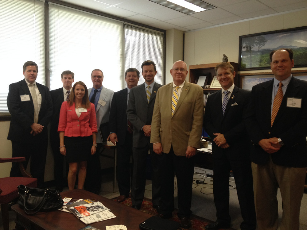 Members of the Charlotte chapter of NAIOP meet with Representatives Tim Moffitt, Bill Brawley and Mike Hager in Raleigh