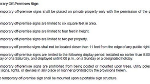 Charlotte Modifies Proposed Sign Ordinance to Allow Real Estate Directional Signs