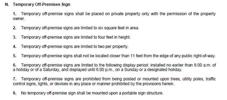 sign regs - new