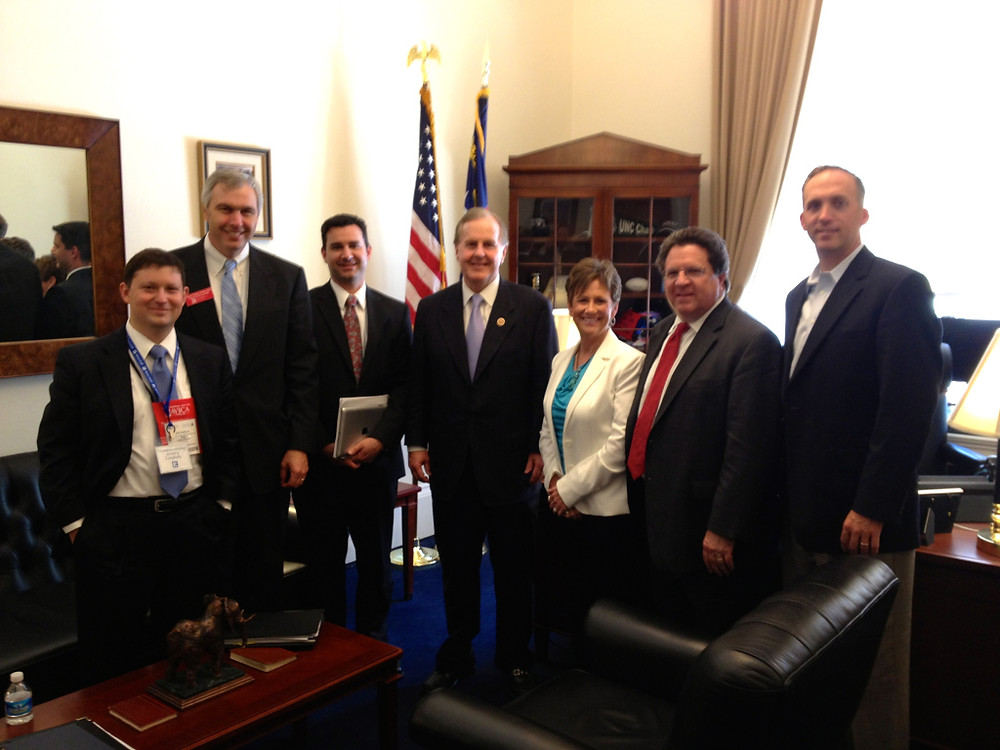REBIC Executive Director Joe Padilla joins Charlotte REALTORS during a visit with Congressman Robert Pittenger in his Capitol Hill office