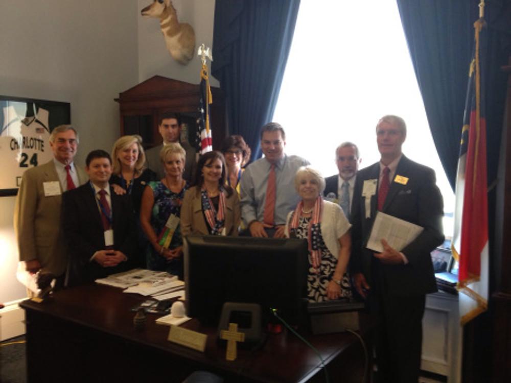 Charlotte area home builders meet with Congressman Richard Hudson in Washington, D.C.