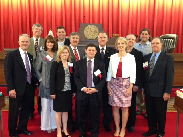 Charlotte HBA members join House Speaker Thom Tillis and Representative Ruth Samuelson in the House Chambers in Raleigh on NCHBA Legislative Day