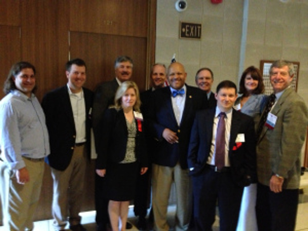 Meeting with Representative Rodney Moore in the North Carolina Legislative Building