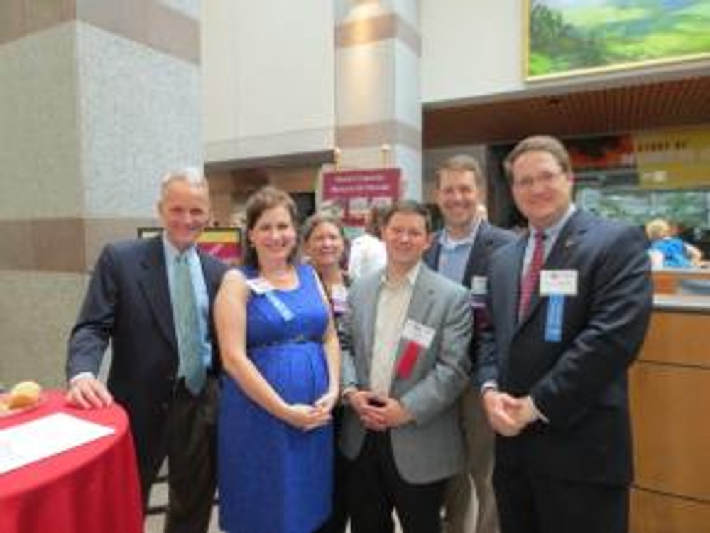 REBIC and HBAC members with Representatives Tricia Cotham and Charles Jeter at the NCHBA Legislative Reception in Raleigh