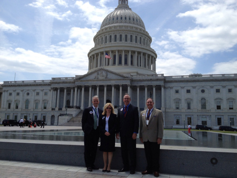 HBAC President Alan Banks, EVP Kathryn Lewis, and Exec Committee members Bill Saint & Rich Davis on Capitol Hill