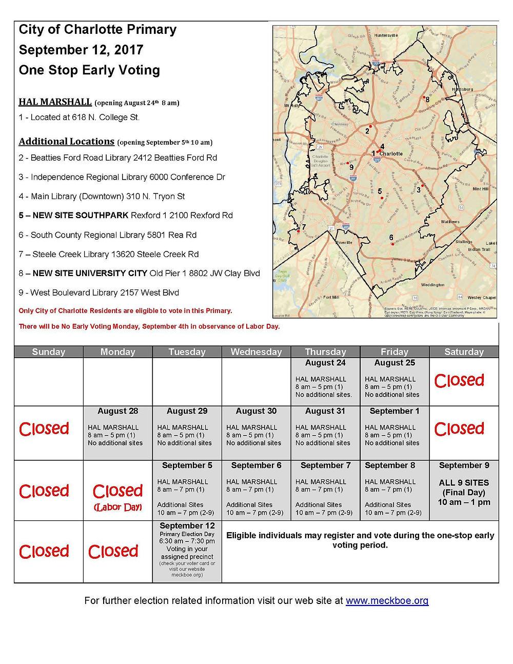 Primary Voting Calendar