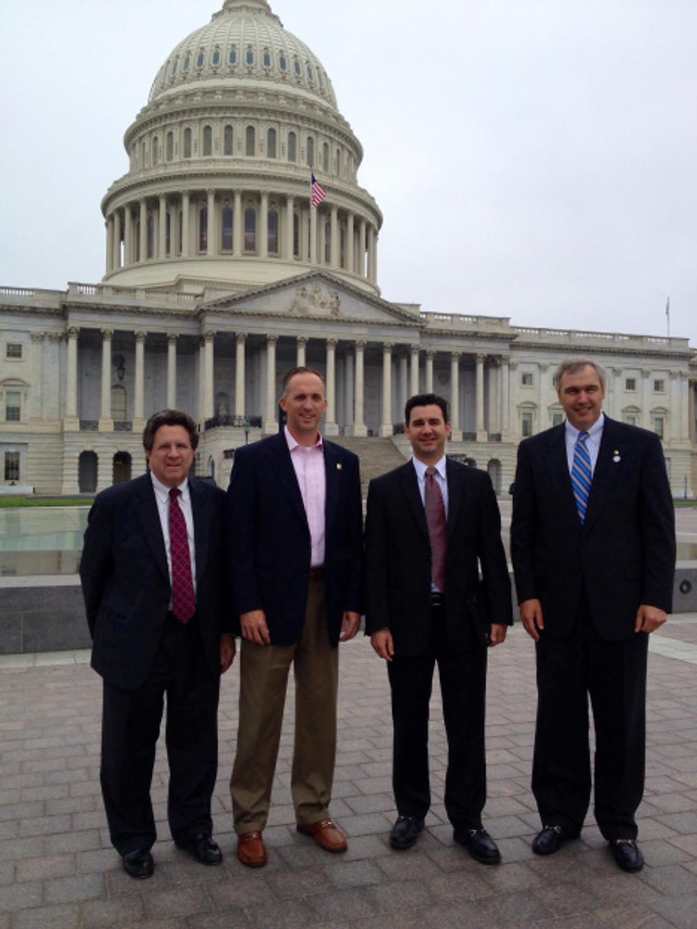 Charlotte  members Eric Locher, Joe Rempson, Scott Wurzbacher and Paisley Gordon on Capitol Hill
