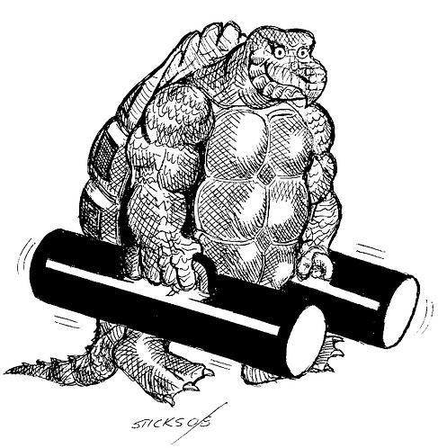 Turtle Man B&W