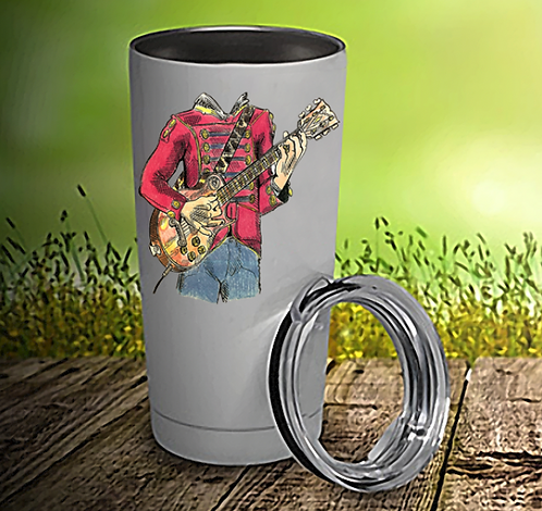 Headless Guitar Player 20oz Travel Mug
