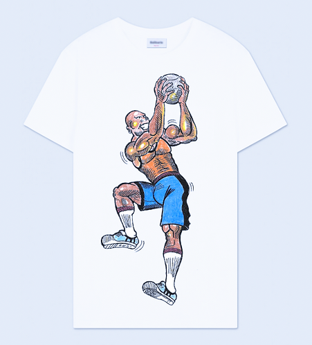 Basketball Player Crew Neck T-Shirt