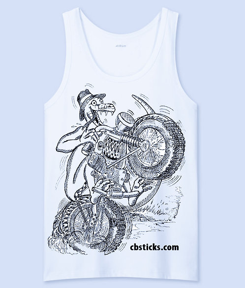 Lizard Biker Tank Top
