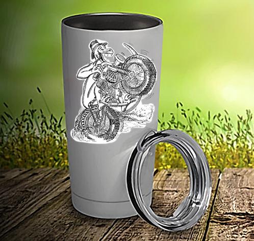 Lizard Biker 20oz Travel Mug