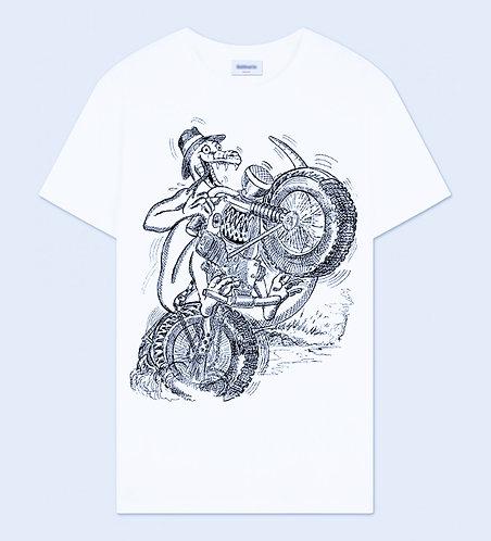 Lizard Biker Crew Neck T-Shirt