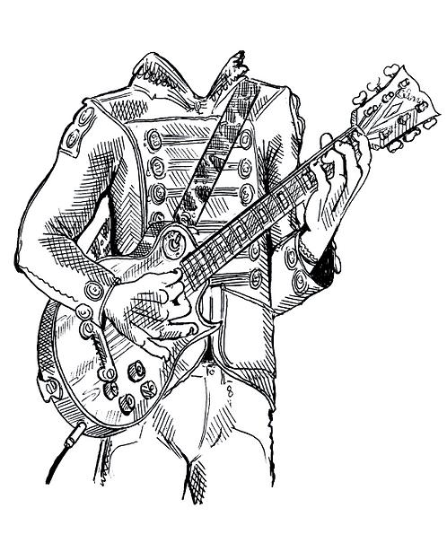 Headless Guitar Player