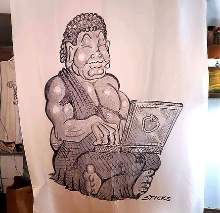 Budda OnLaptop 9' x 5.5'bedsheet, polyester