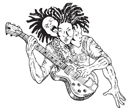 Three Headed Guitar Player