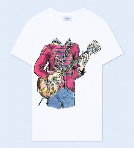 Headless Guitar Player Crew Neck T-Shirt