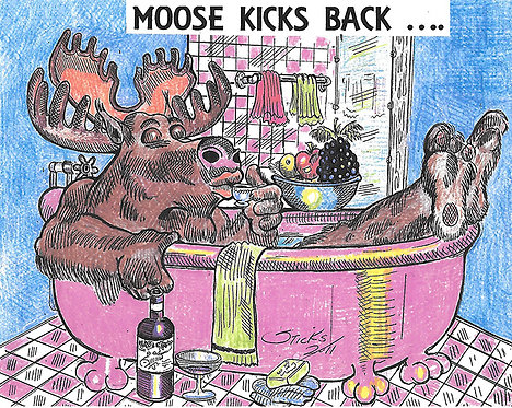 Moose Kicks Back