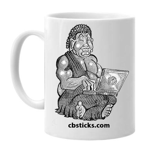 Laptop Buddha 15oz. Mug - White