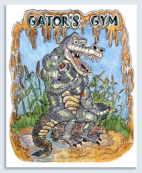 "Gator's Gym 8x10"" Metal Print"
