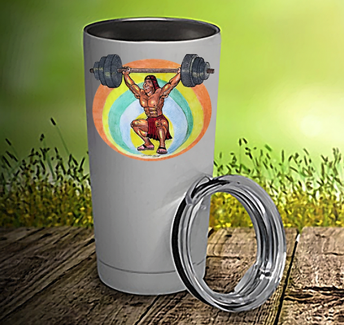Native Man Workout 20oz Travel Mug