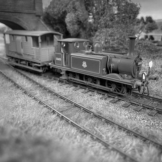With a head signal more familiar to the Bluebell Railway than the Nuthatch Line, ex-LB&SCR A1X Class No 32655 works a special with 'New Van' No S55040
