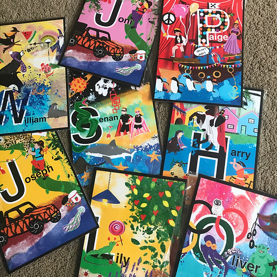 A-Z kids seek and find letter prints