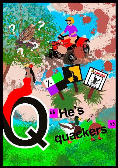 Q Greeting Card