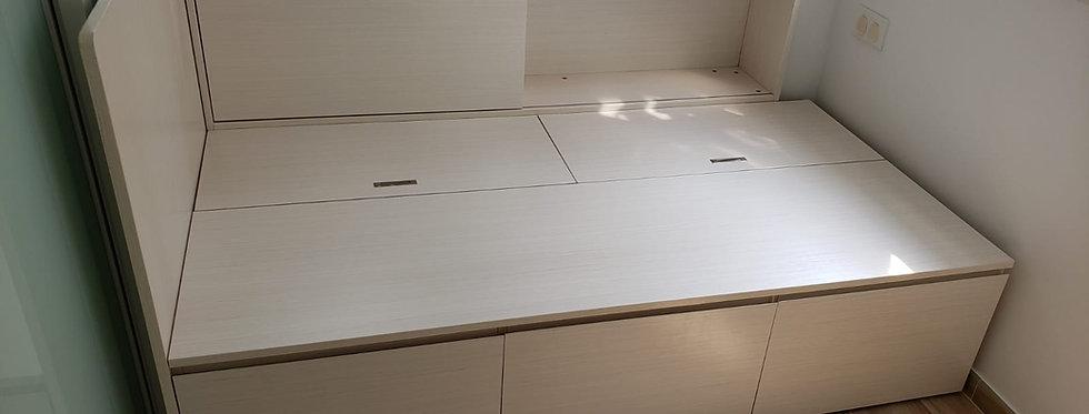客人訂制(土瓜灣區) #4呎闊櫃桶床 實物圖片#877