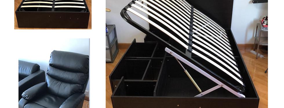 客人訂制 5呎闊油壓床+可360度轉趟椅 實物圖片#496