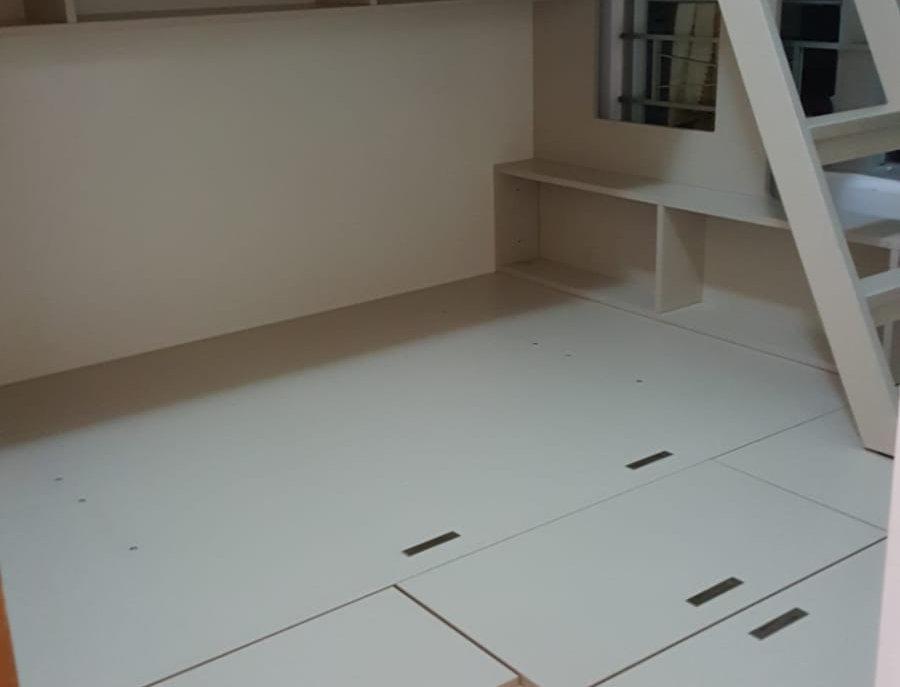 客人訂制  地台床連高架床+衣櫃 實物圖片#433