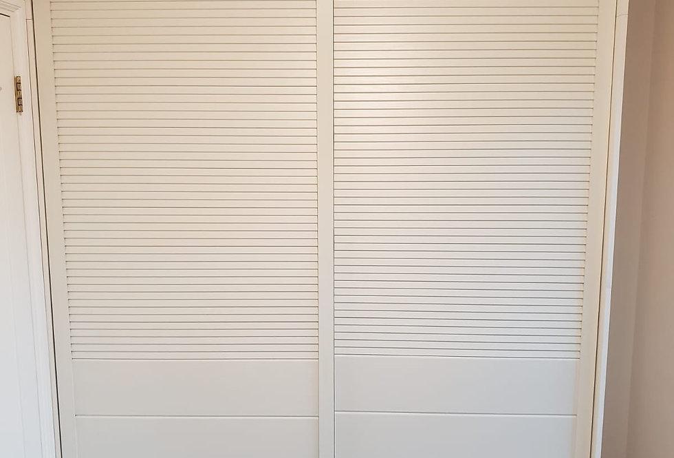 客人訂制(土瓜灣傲雲峄) #6呎闊高身趟門衣櫃 實物圖片#885