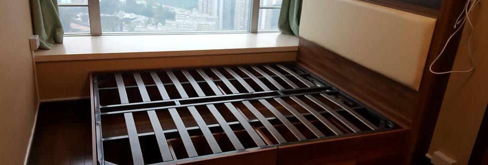 客人訂制 雙人油壓床 實物圖片 #107