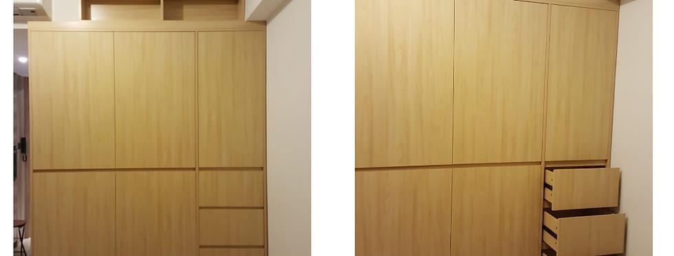客人訂制  衣櫃+吊櫃+電視櫃+吊飾櫃  實物圖片#490