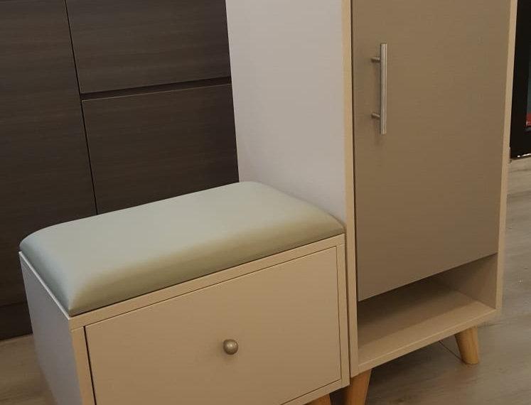 客人訂制  矮身鞋櫃+換鞋椅 實物圖片#780