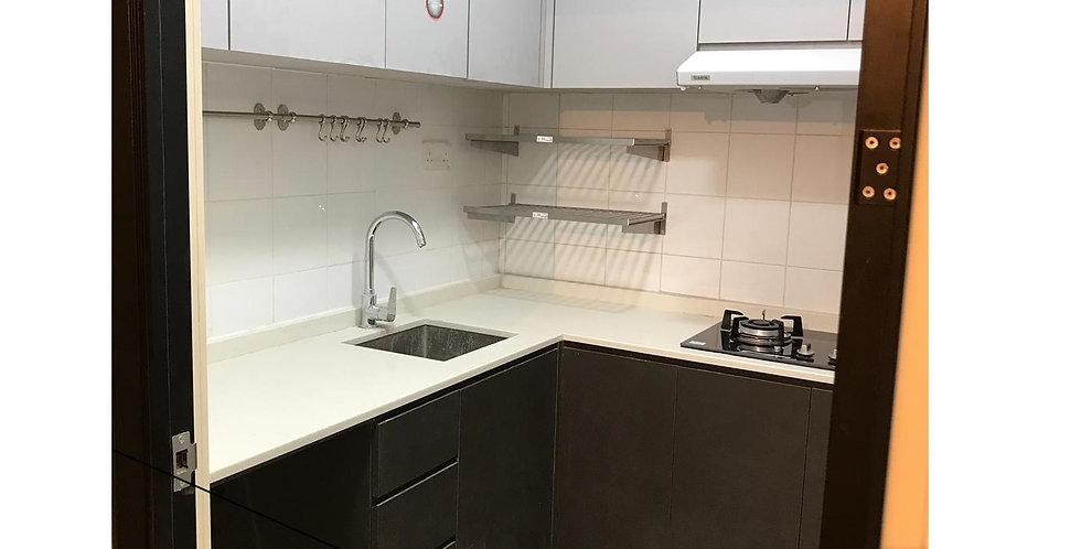 客人訂制 廚房浴室裝修, 鋁框玻璃趟門 實物圖片#519
