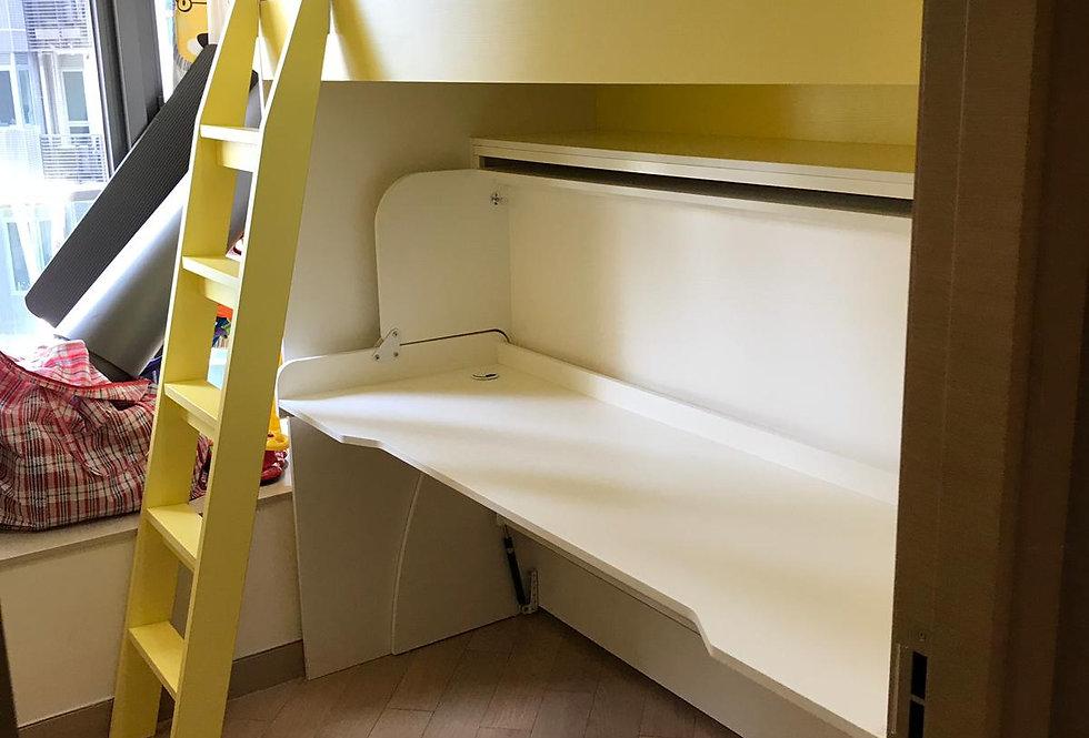 客人訂制  高架床+書桌隱形床  實物圖片#730