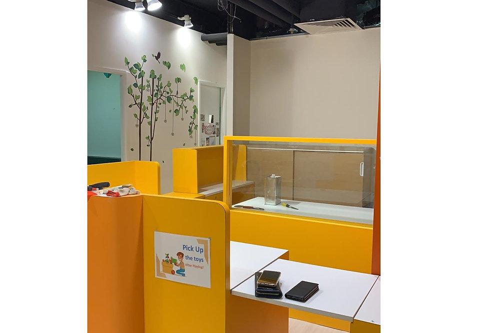教育中心訂制  接待台及屏風 實物圖片#715
