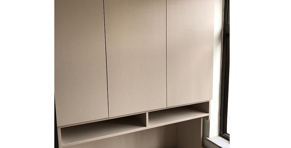 客人訂制 床頭高櫃+揭板櫃桶床+吊櫃 實物圖片#581