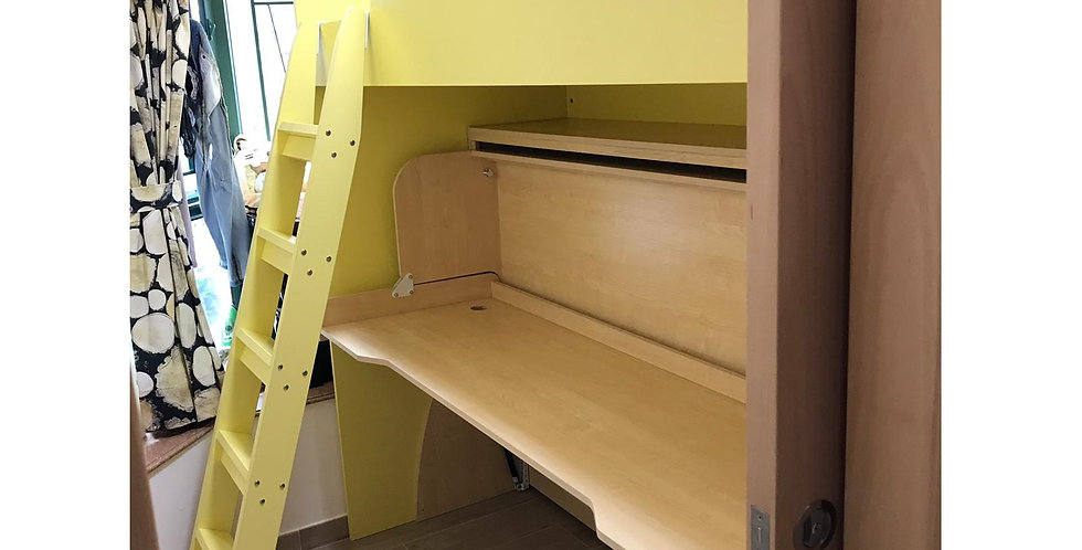 客人訂制  高架床+書桌隱形床  實物圖片#770