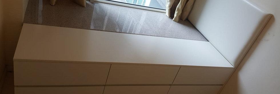 客人訂制  駁窗台床  實物圖片#509