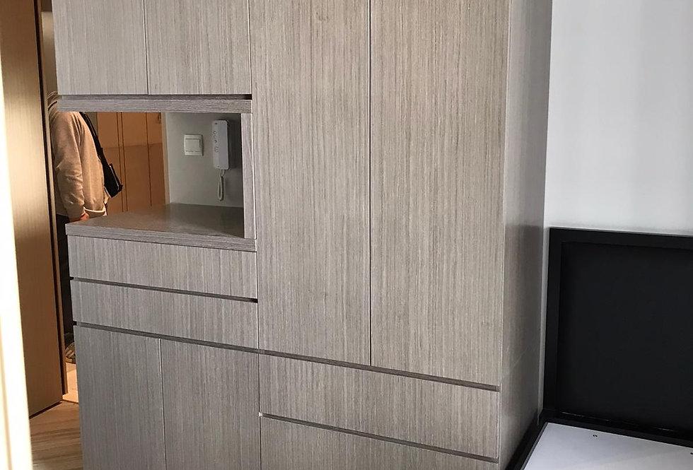 客人訂制  C形衣櫃 及 4呎油壓床 實物圖片#804