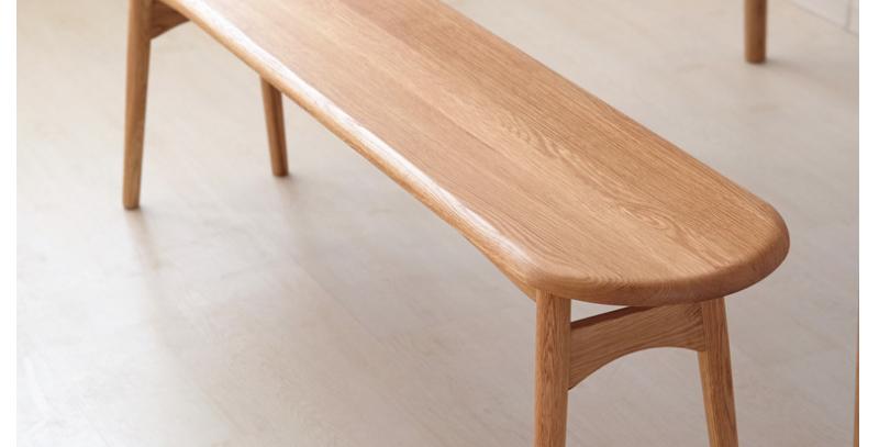 簡約實木長餐椅 F226-1076