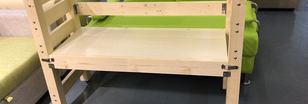 客人訂制 松木可收摺嬰兒床 實物圖片#276