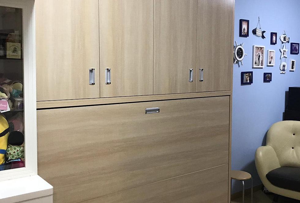 客人訂制  4尺闊側翻隱形床連衣櫃 實物圖片#420