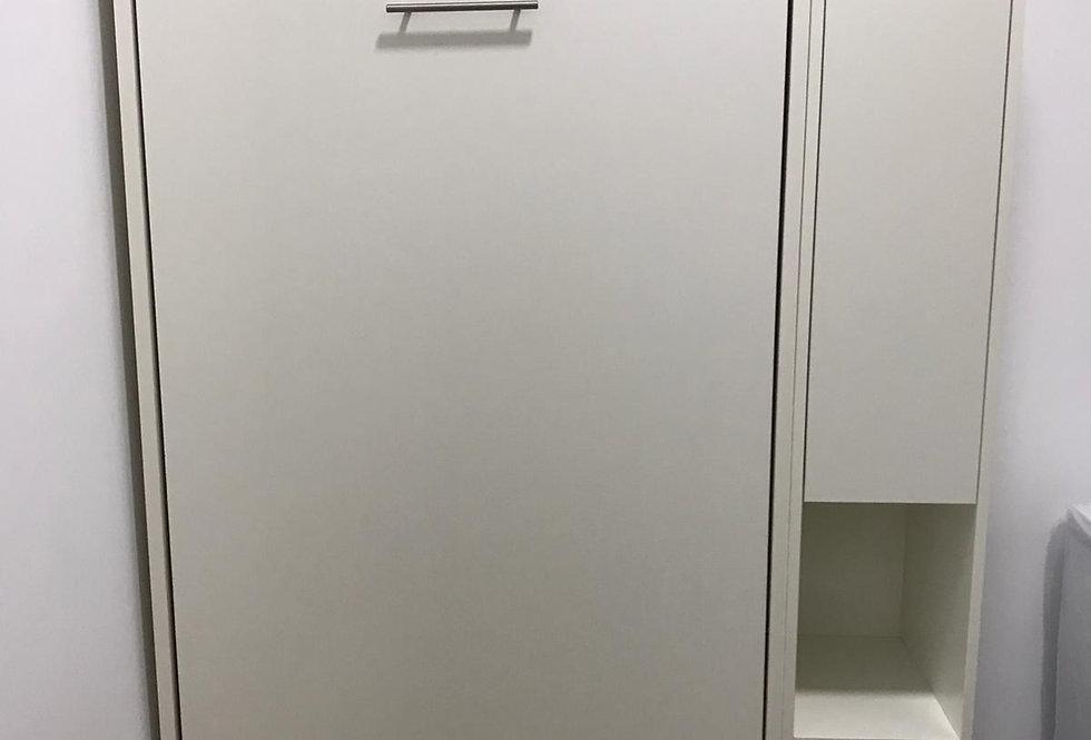 客人訂制  單人直翻隱形床+窄身什物櫃  實物圖片#846