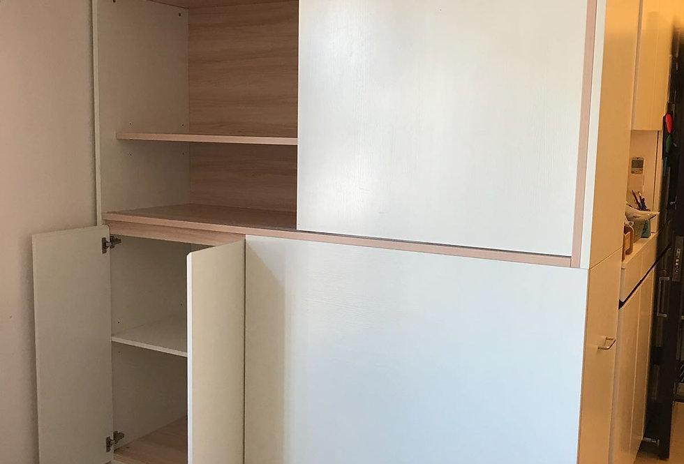 客人訂制 廳櫃拼趟鞋櫃組合  實物圖片#288