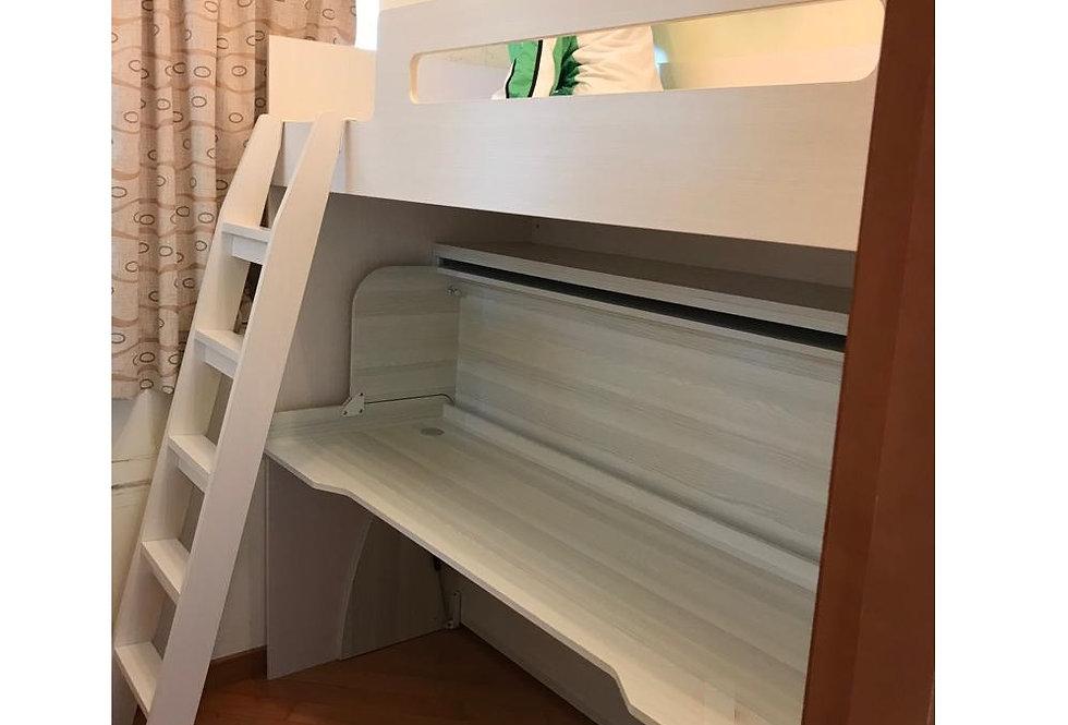 客人訂制  高架床+書桌隱形床  實物圖片#669