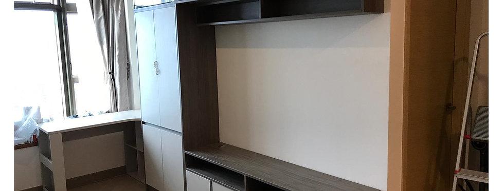 客人訂制  電視組合櫃,書桌及升降茶几 實物圖片#706