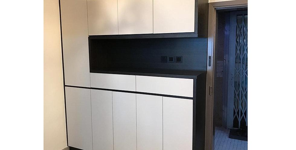 客人訂制 C字廳櫃, 地台床組合連衣櫃 實物圖片#603